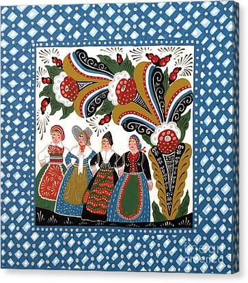Dancing Women Canvas Print by Leif Sodergren