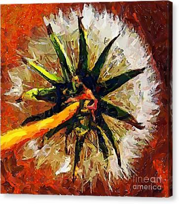Dandelion Clock Canvas Print by Dragica  Micki Fortuna