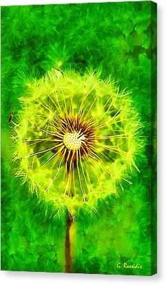 Dandelion Canvas Print by George Rossidis