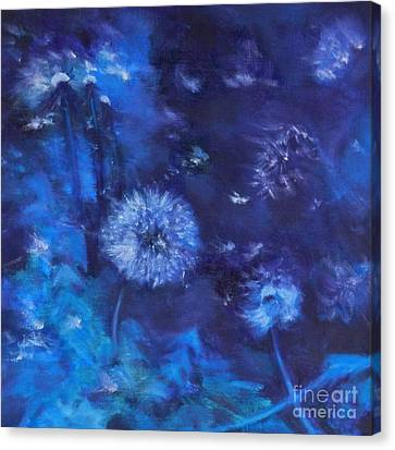 Dandelion Night Canvas Print