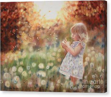 Dandelions Canvas Print by Colleen Quinn