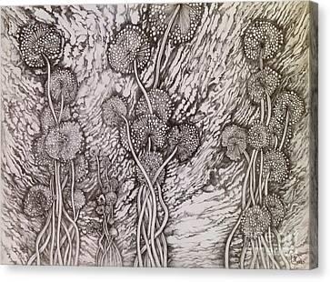 Dandelions Canvas Print by Iya Carson