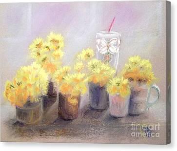 Dandelions Canvas Print by Yoshiko Mishina