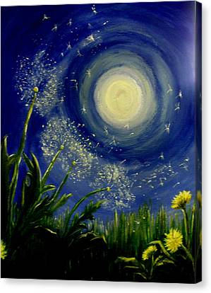 Silver Moonlight Canvas Print - Dandy  Magic by Tammy Rogers