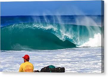 Surf Canvas Print - Danger by Gregg  Daniels