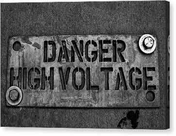 Danger High Voltage Canvas Print