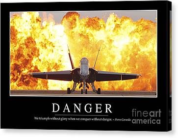 Danger Inspirational Quote Canvas Print by Stocktrek Images
