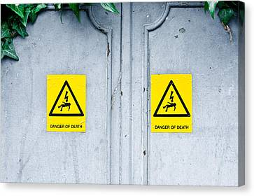 Regulations Canvas Print - Danger Of Death by Tom Gowanlock
