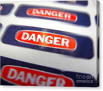 Danger Canvas Print by Olivier Le Queinec