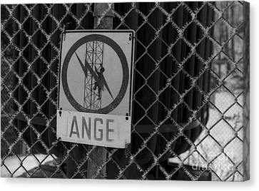 Danger Or Angel Canvas Print by Andre Paquin