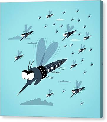 Dangerous Mosquitos Canvas Print by Mark Airs