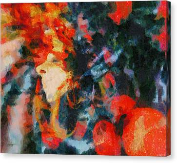 Canvas Print featuring the painting Dangerous Passion by Joe Misrasi