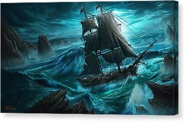Dangerous Seas Canvas Print by Anthony Christou
