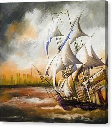 Dangerous Tides Canvas Print by Corporate Art Task Force