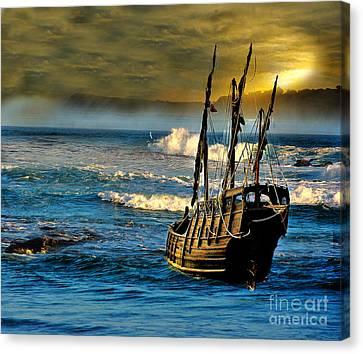 Dangerous Waters Canvas Print by Blair Stuart
