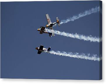 Dangerously Close Encounter Canvas Print by Ramabhadran Thirupattur