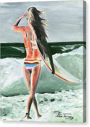 Canvas Print featuring the painting Dani by Stan Tenney