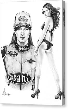 Danica Patrick Canvas Print by Murphy Elliott