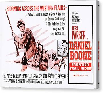 Daniel Boone Frontier Trail Rider, Us Canvas Print by Everett