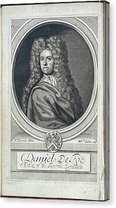 Daniel Defoe Canvas Print by British Library