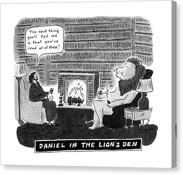 Daniel In The Lion's Den Canvas Print