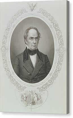 Daniel Webster, From The History Of The United States, Vol. II, By Charles Mackay, Engraved By T Canvas Print by Mathew Brady