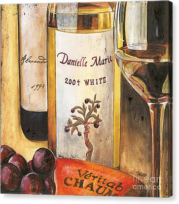 Wine Glasses Canvas Print - Danielle Marie 2004 by Debbie DeWitt