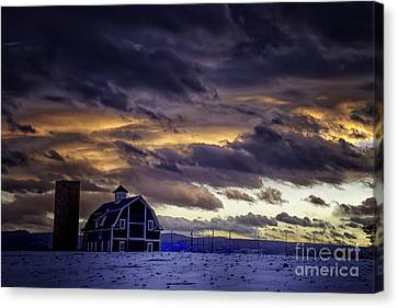 Daniel's Foreboding Sunset Canvas Print by Kristal Kraft
