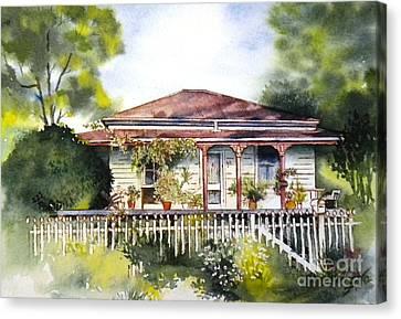 Danny Deck Chairs House  Canvas Print by Sandra Phryce-Jones
