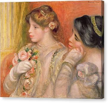 Dans La Loge, C.1908 Oil On Canvas Canvas Print by Pierre Auguste Renoir