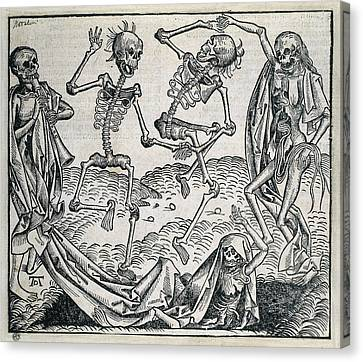 Danse Macabre Or Dance Of Death 1493 Canvas Print by Everett