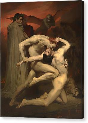 Dante And Virgil Canvas Print