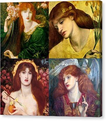Dante Gabriel Rossetti Collage Canvas Print by Philip Ralley