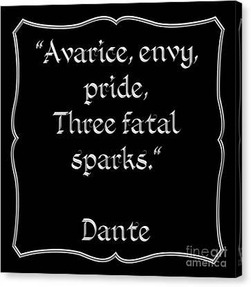 Dante Quote 1 Canvas Print by Rose Santuci-Sofranko