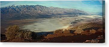 Dante's View Panorama Canvas Print by David Salter