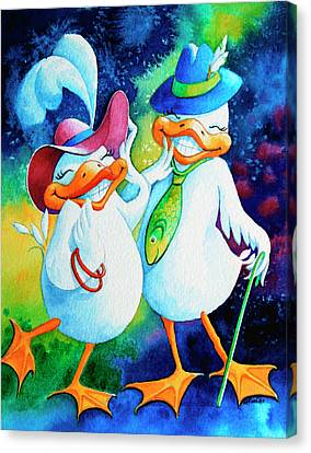 Dapper Duckies Canvas Print by Hanne Lore Koehler