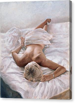 Semi-nude Canvas Print - Dappled And Drowsy by John Worthington