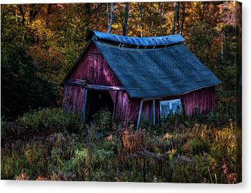 Dappled Light On The Sugar House Canvas Print by Thomas Schoeller