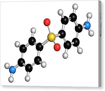 Dapsone Antibacterial Drug Molecule Canvas Print by Molekuul