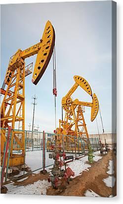 Daqing Oil Field Canvas Print by Ashley Cooper