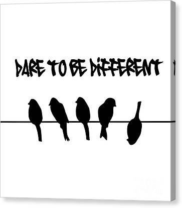Dare To Be Different Birds On A Wire Canvas Print by Li Or