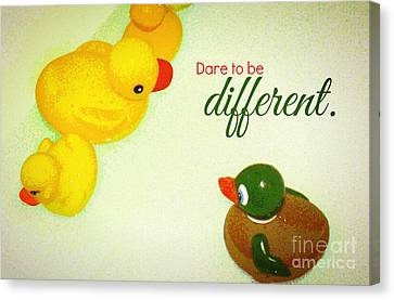 Canvas Print featuring the digital art Dare To Be Different by Valerie Reeves