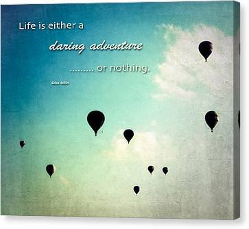 Canvas Print featuring the photograph Daring Adventure Hot Air Balloons by Eleanor Abramson