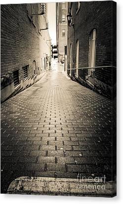 Dark Alley Canvas Print by Edward Fielding