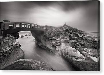 Dark And Stormy Coast Canvas Print
