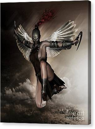 Dark Angel Art Canvas Print - Dark Angel by Shanina Conway