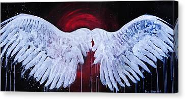 Dark Angel Canvas Print by Stacey Pilkington-Smith
