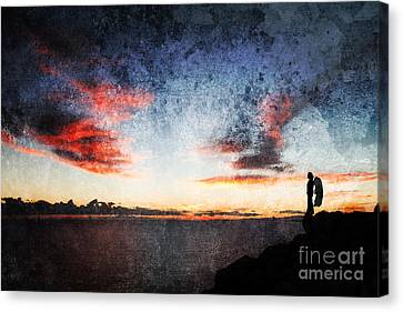 Dark Angel Canvas Print by Stelios Kleanthous