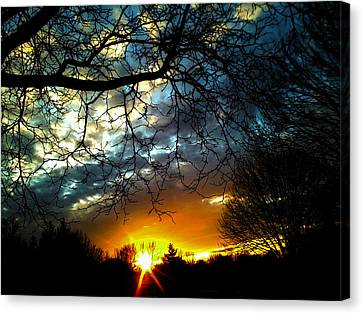 Dark Beauty Sunset Canvas Print by James Hammen