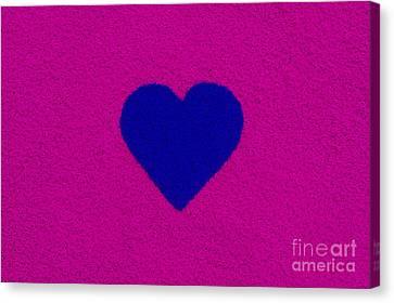 Dark Blue Heart Canvas Print by Tim Gainey